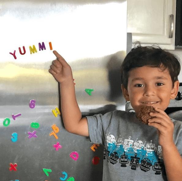 yummi food on the fridge