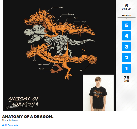 Threadless screenshot image