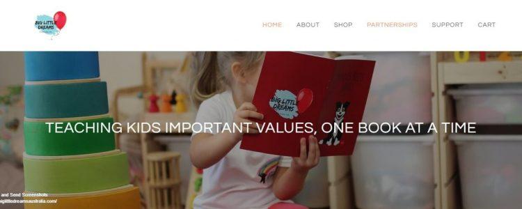 Big Little Dreams homepage screenshot