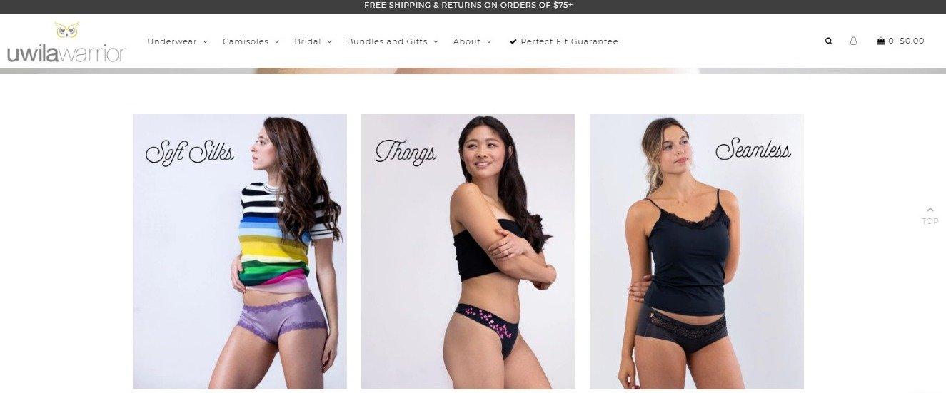 Uwila Warrior website page