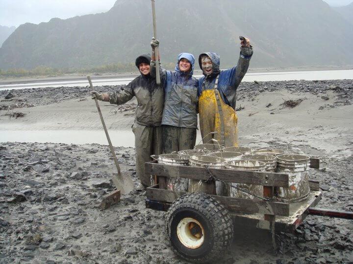 Lauren and crew from Alaska Glacial Essentials