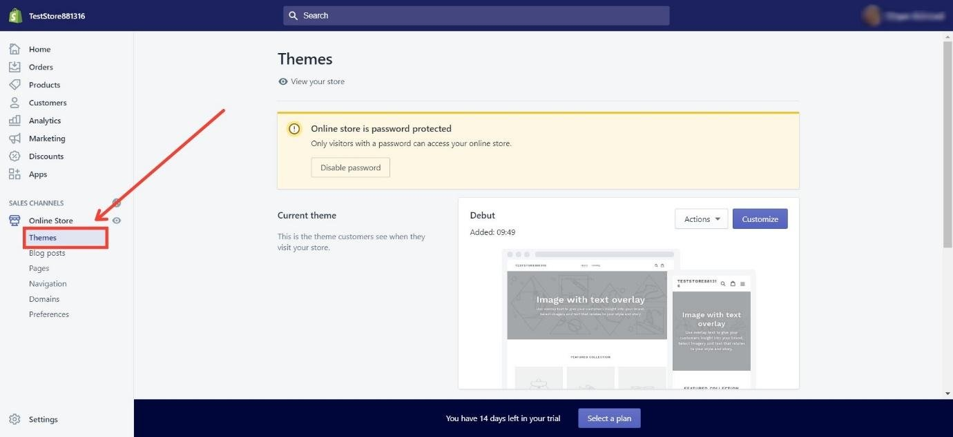 Themes on Shopify