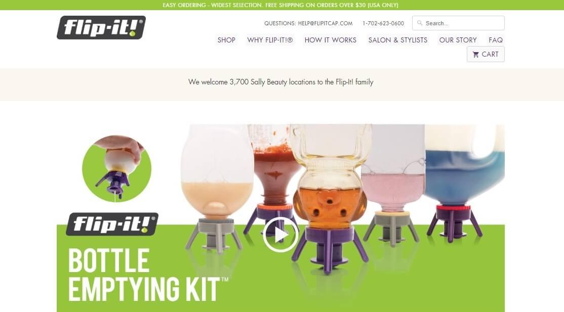 Flip It Cap website homepage