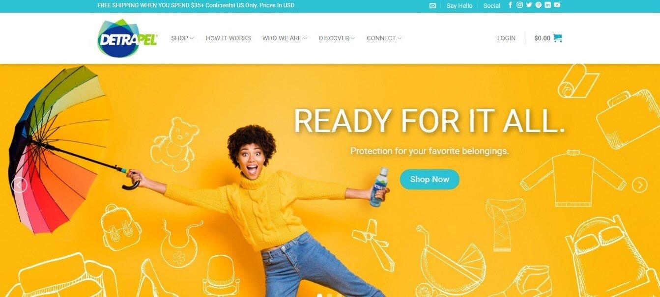 DetraPel homepage