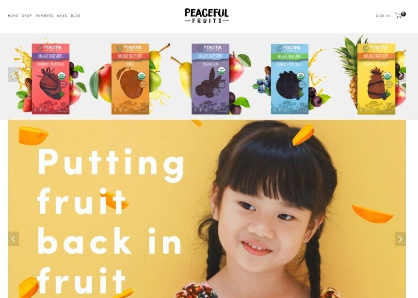 Peaceful Fruits homepage image