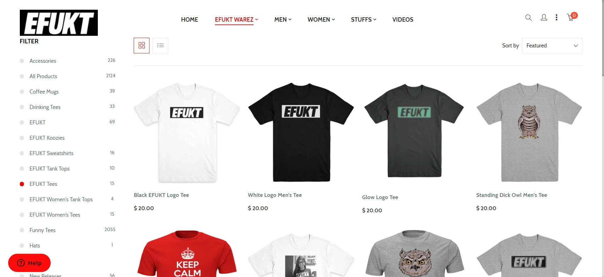 Screenshot of EFUKT Tees (1)