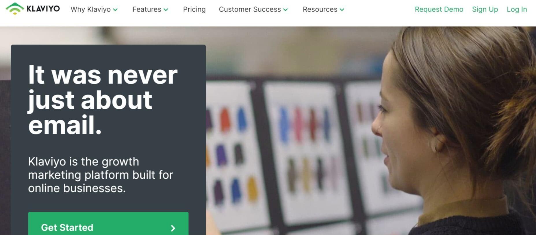 Klaviyo email marketing homepage