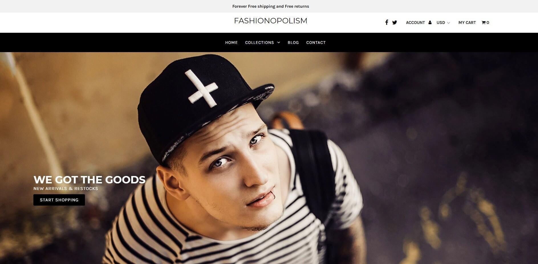 Fashionopolism shopify theme image