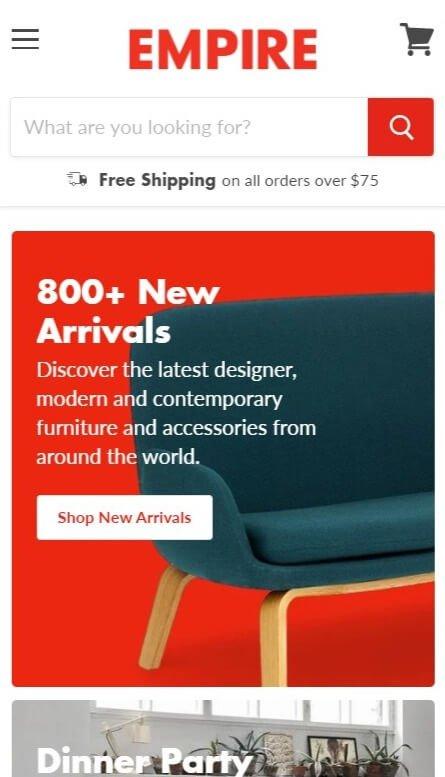 Retina mobile shopify theme image