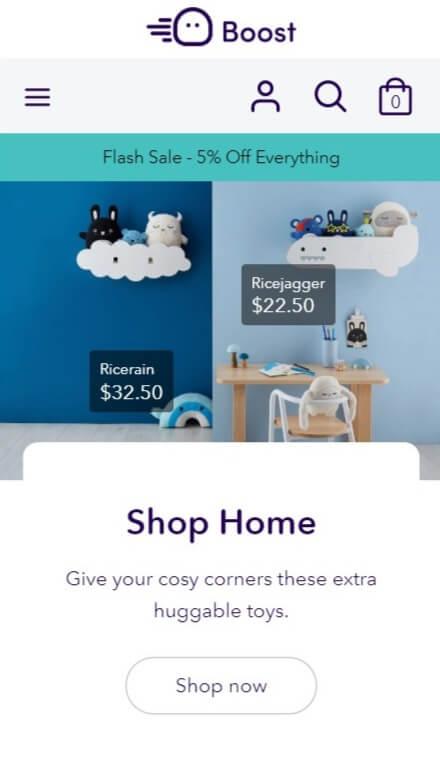 Versatile shopify theme for mobile