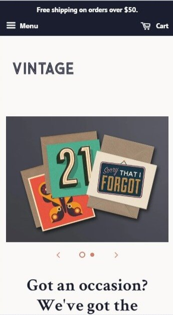 Minimal Vintage Shopify theme image