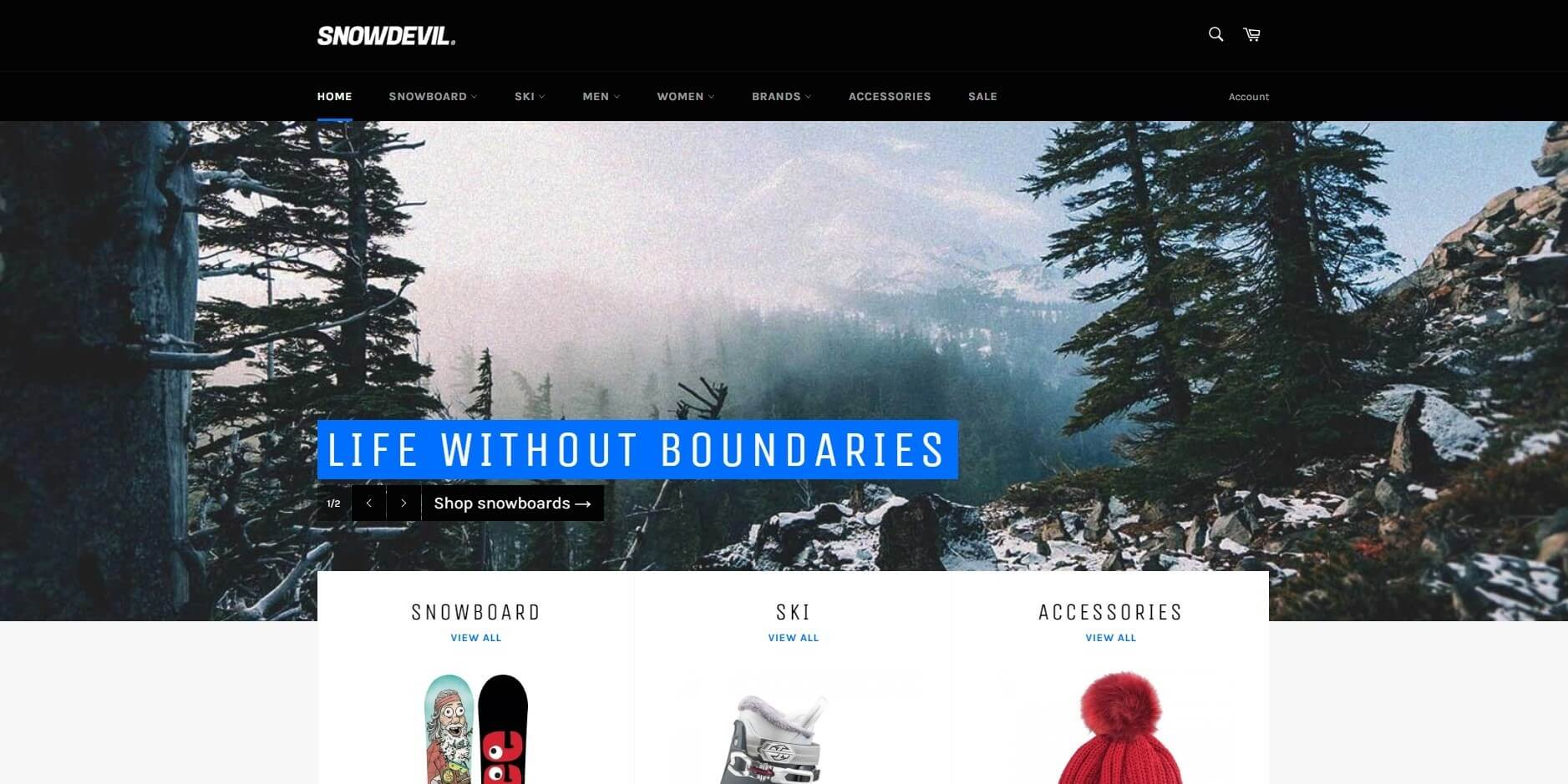 Venture shopify theme image