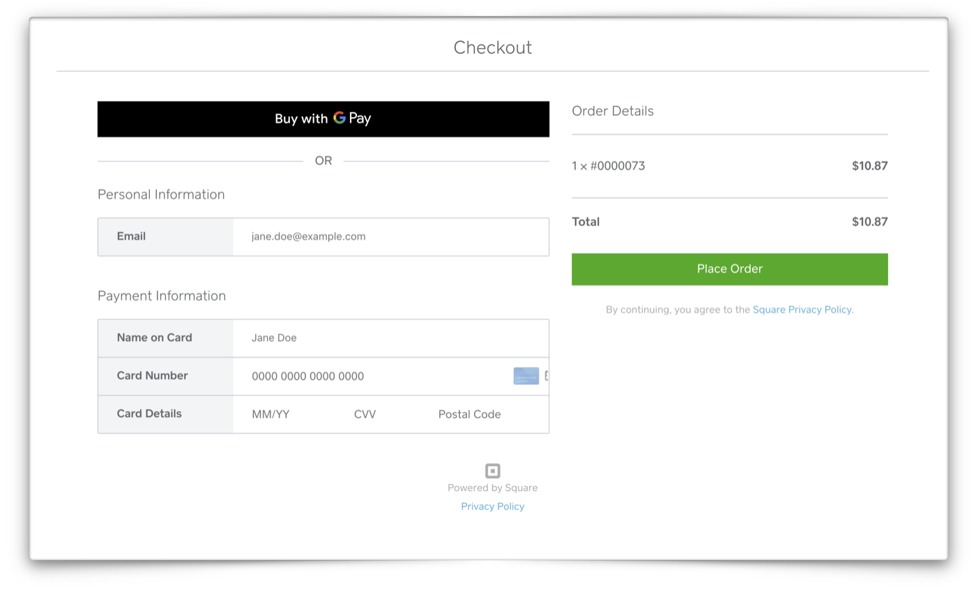 Square payment tool image