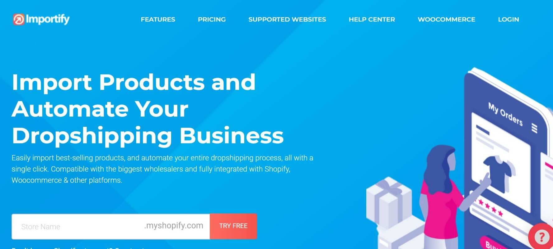 Importify dropshipping app