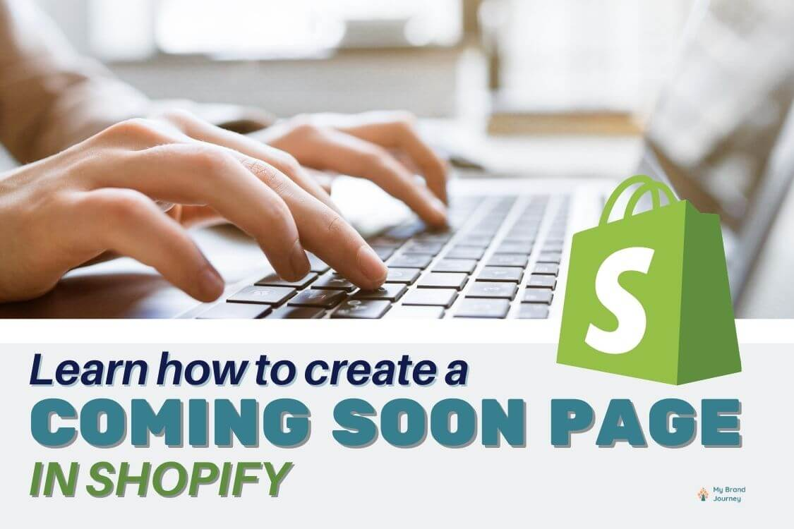Shopify coming soon page in shopify header image
