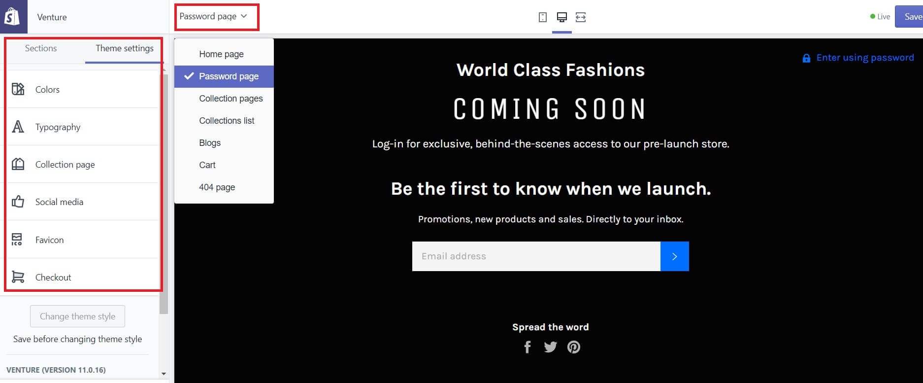 coming soon page on shopify image