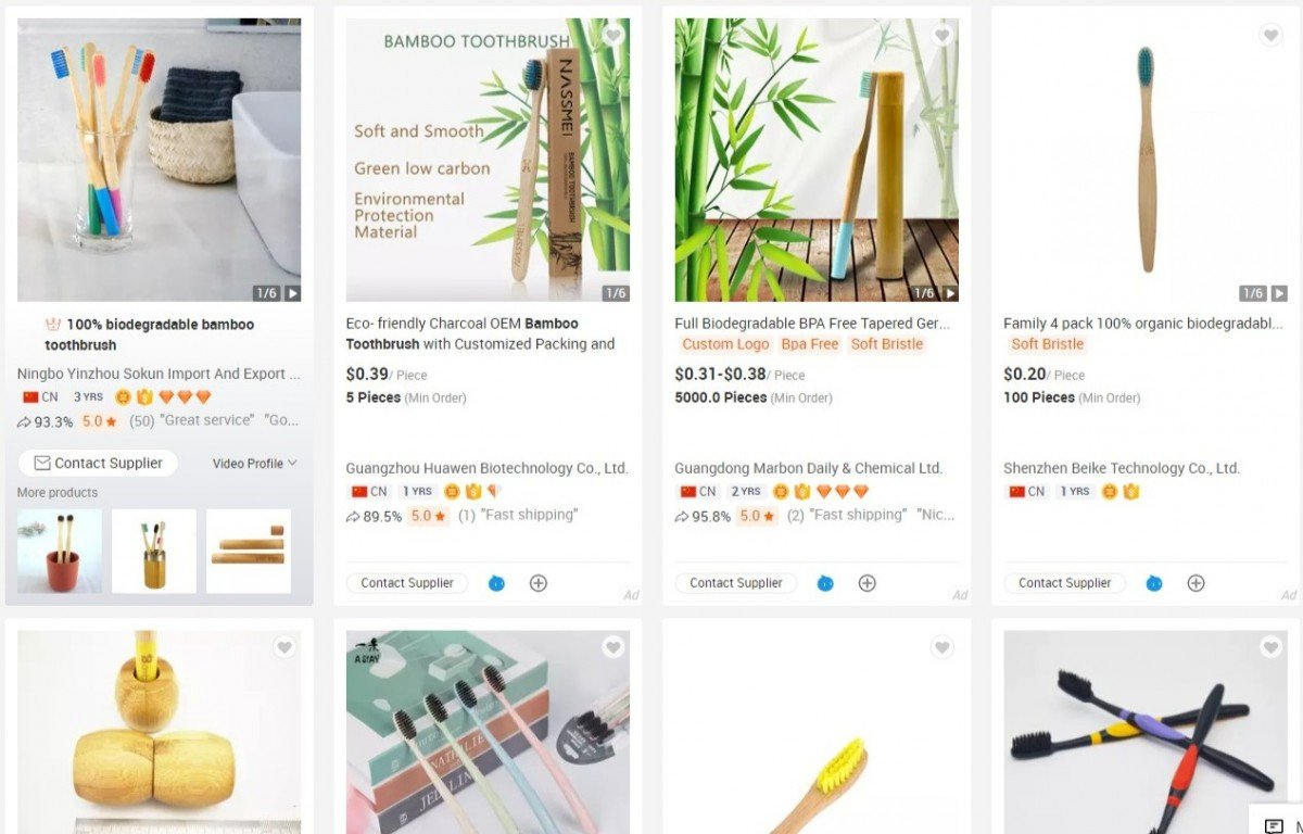 bamboo toothbrushes image