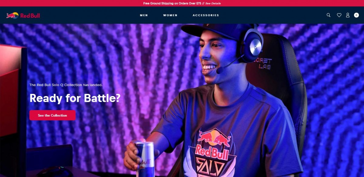 Redbull store one of the biggest shopify brands