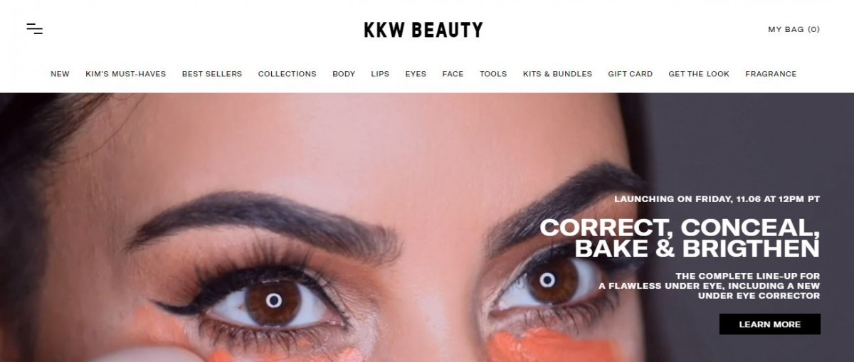 KKW Beauty one of the biggest shopify brands