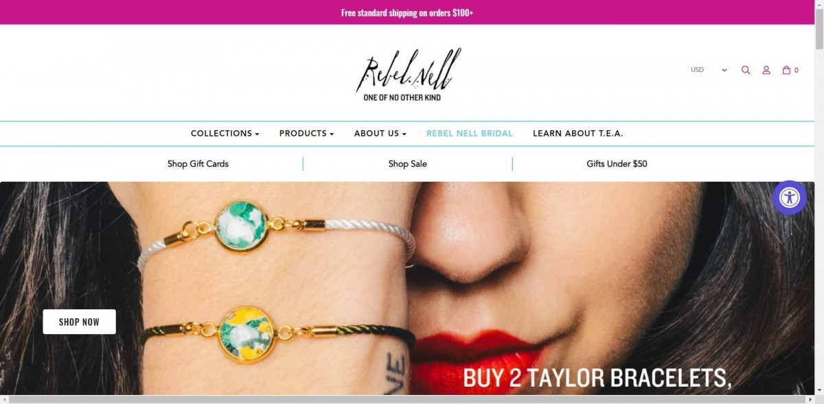 Rebel Nell Shopify jewelry store