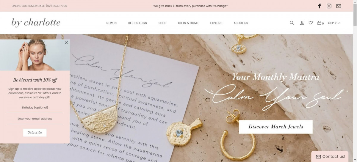 By Charlotte Shopify jewelry store