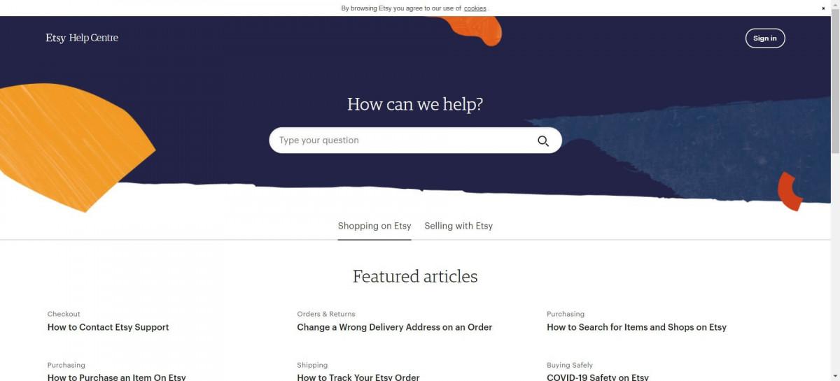 Etsy vs Ebay customer support image